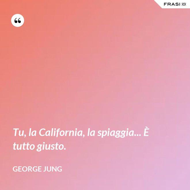 Tu, la California, la spiaggia... È tutto giusto. - George Jung