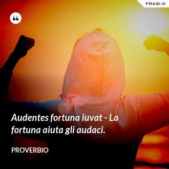 Audentes fortuna iuvat - La fortuna aiuta gli audaci. - Proverbio