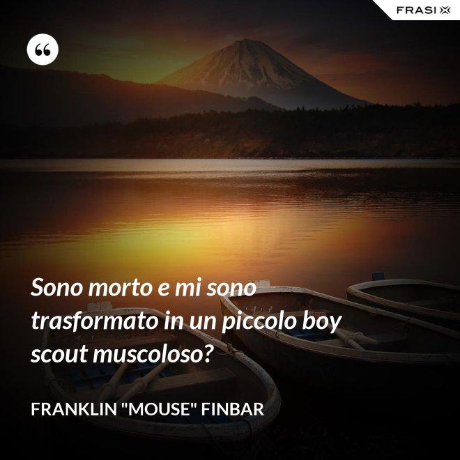"""Sono morto e mi sono trasformato in un piccolo boy scout muscoloso? - Franklin """"Mouse"""" Finbar"""