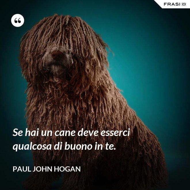 Se hai un cane deve esserci qualcosa di buono in te. - Paul John Hogan