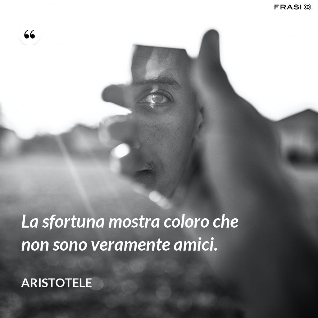 La sfortuna mostra coloro che non sono veramente amici. - Aristotele