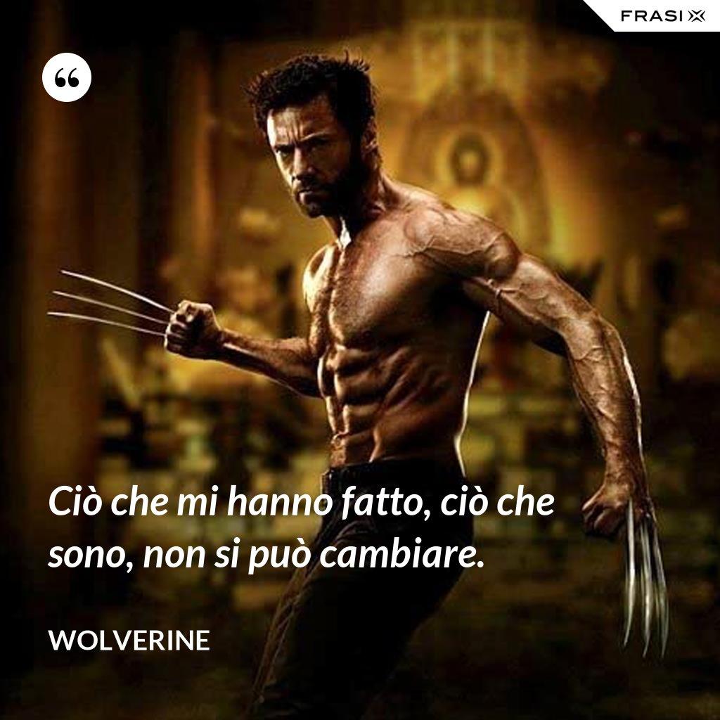 Ciò che mi hanno fatto, ciò che sono, non si può cambiare. - Wolverine