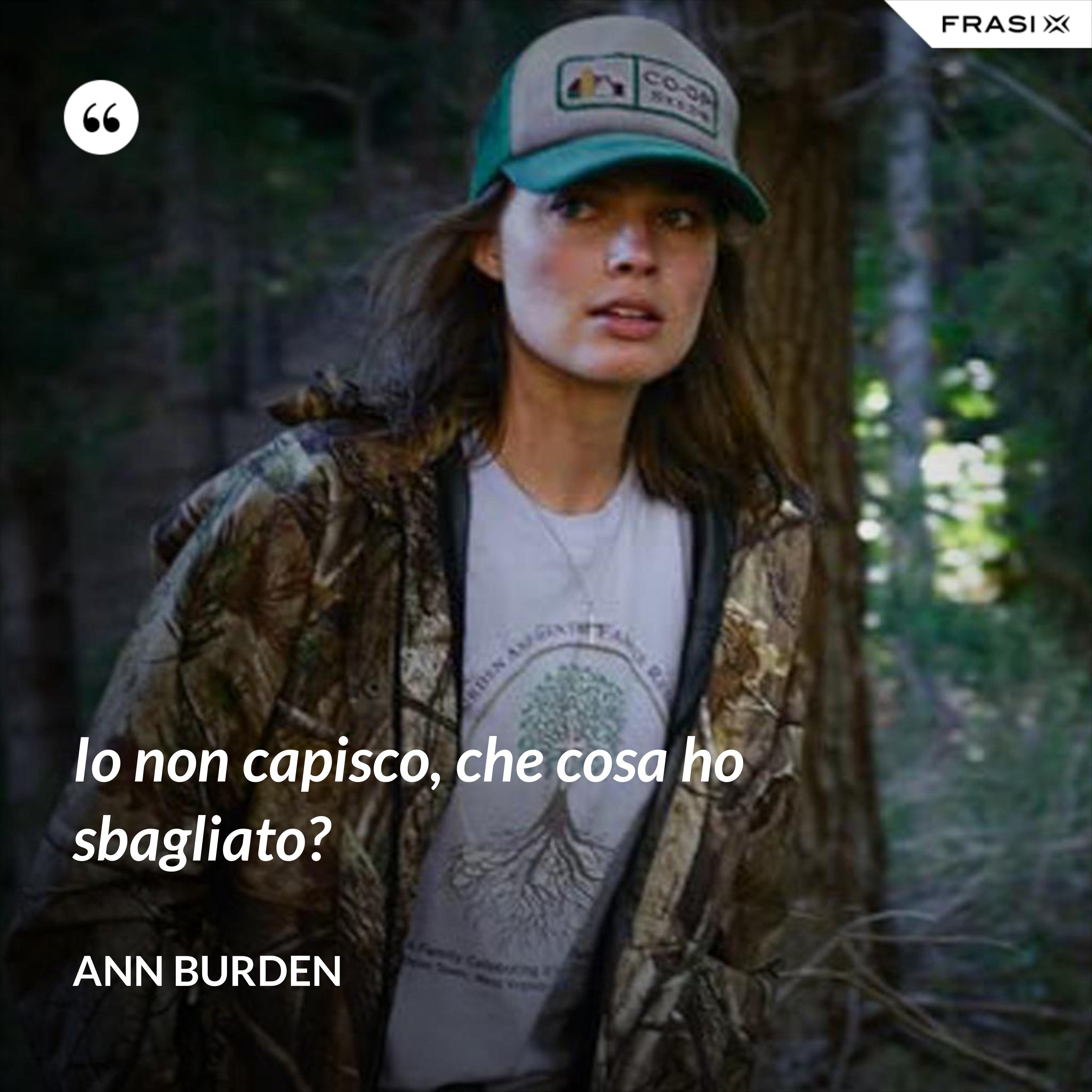 Io non capisco, che cosa ho sbagliato? - Ann Burden