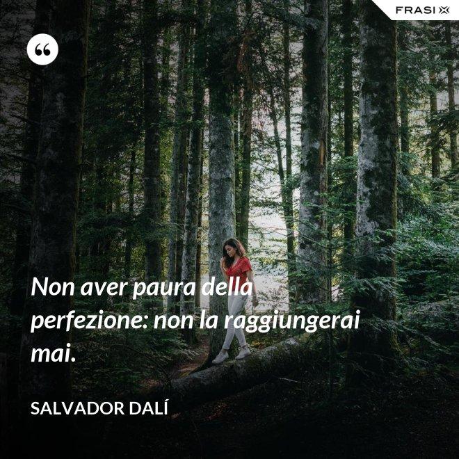 Non aver paura della perfezione: non la raggiungerai mai. - Salvador Dalí