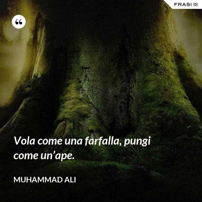Vola come una farfalla, pungi come un'ape. - Muhammad Ali