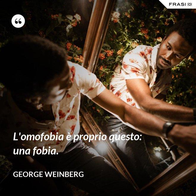 L'omofobia è proprio questo: una fobia. - George Weinberg