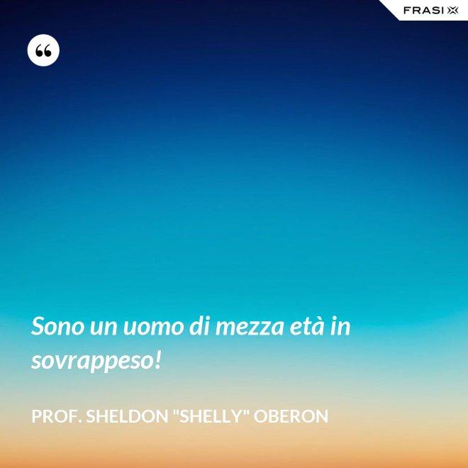 """Sono un uomo di mezza età in sovrappeso! - prof. Sheldon """"Shelly"""" Oberon"""
