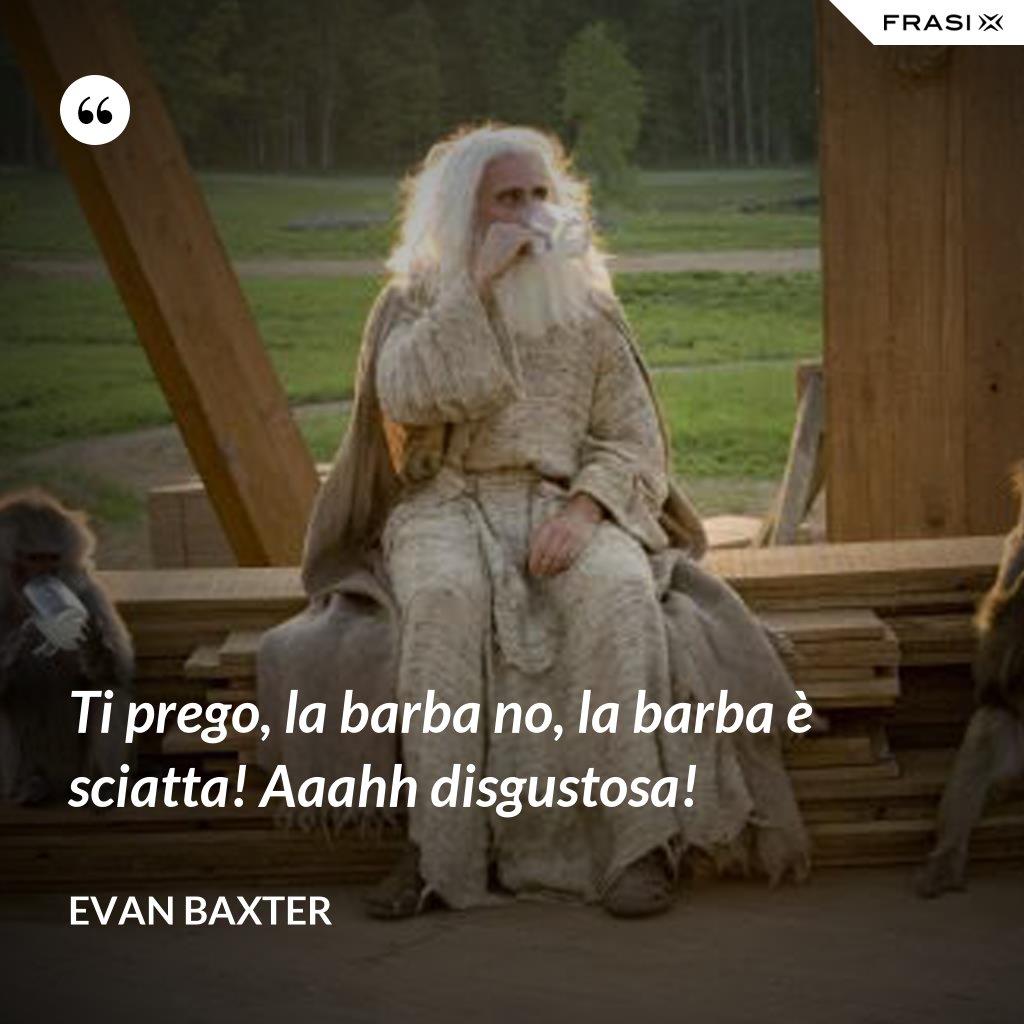Ti prego, la barba no, la barba è sciatta! Aaahh disgustosa! - Evan Baxter