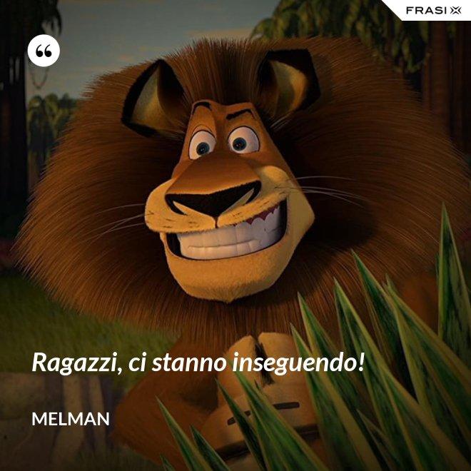 Ragazzi, ci stanno inseguendo! - Melman