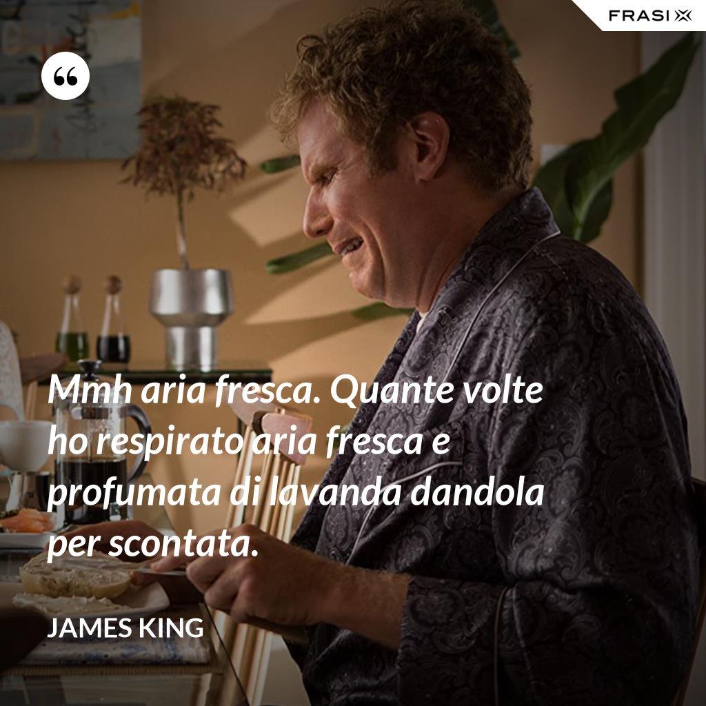 Mmh aria fresca. Quante volte ho respirato aria fresca e profumata di lavanda dandola per scontata. - James King