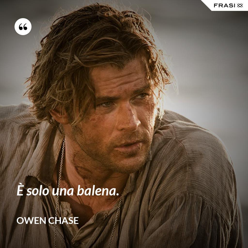 È solo una balena. - Owen Chase
