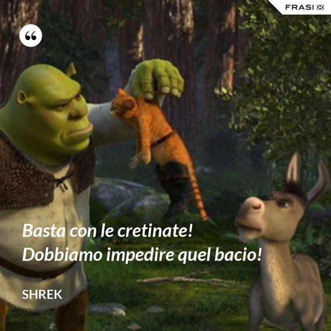 Basta con le cretinate! Dobbiamo impedire quel bacio! - Shrek
