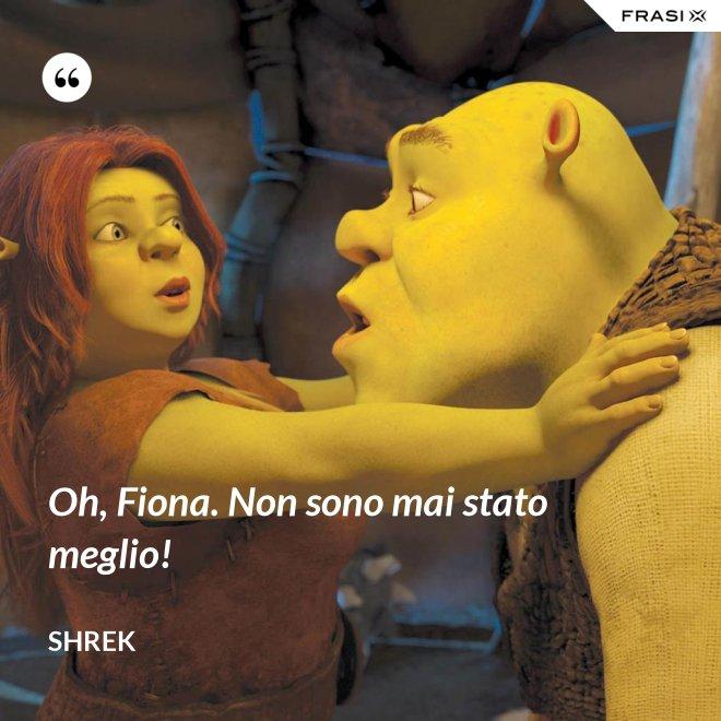 Oh, Fiona. Non sono mai stato meglio! - Shrek