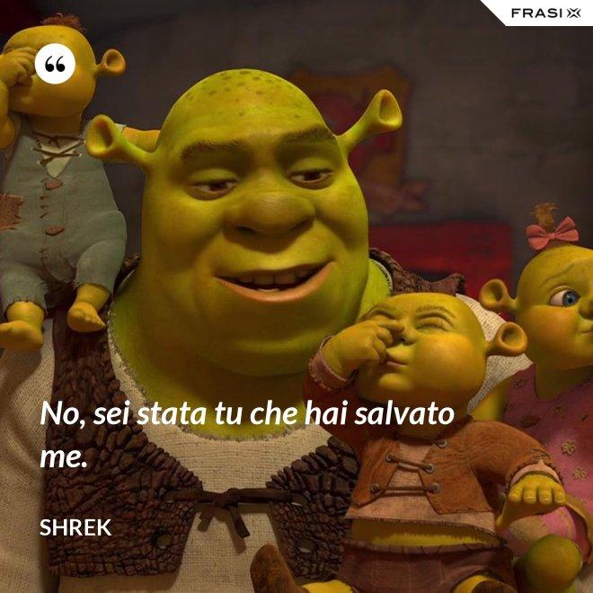 No, sei stata tu che hai salvato me. - Shrek