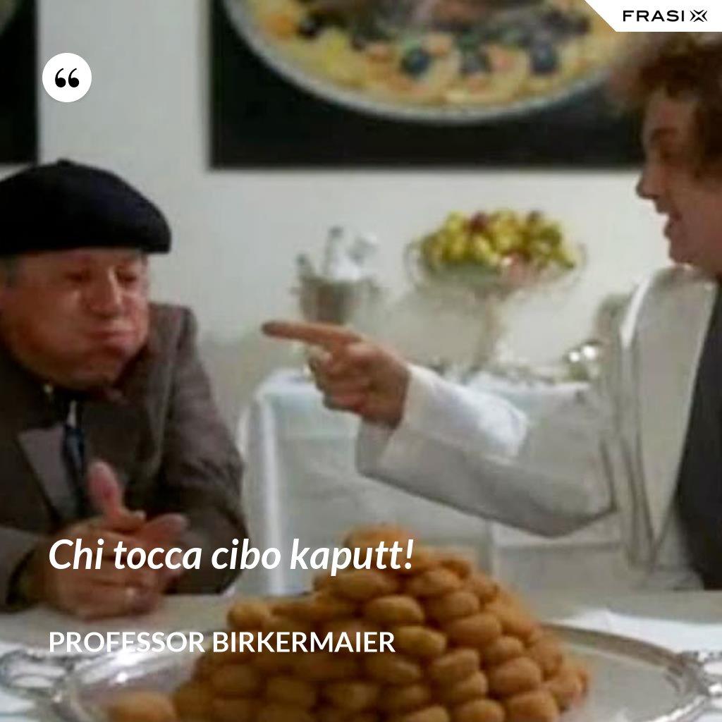Chi tocca cibo kaputt! - Professor Birkermaier