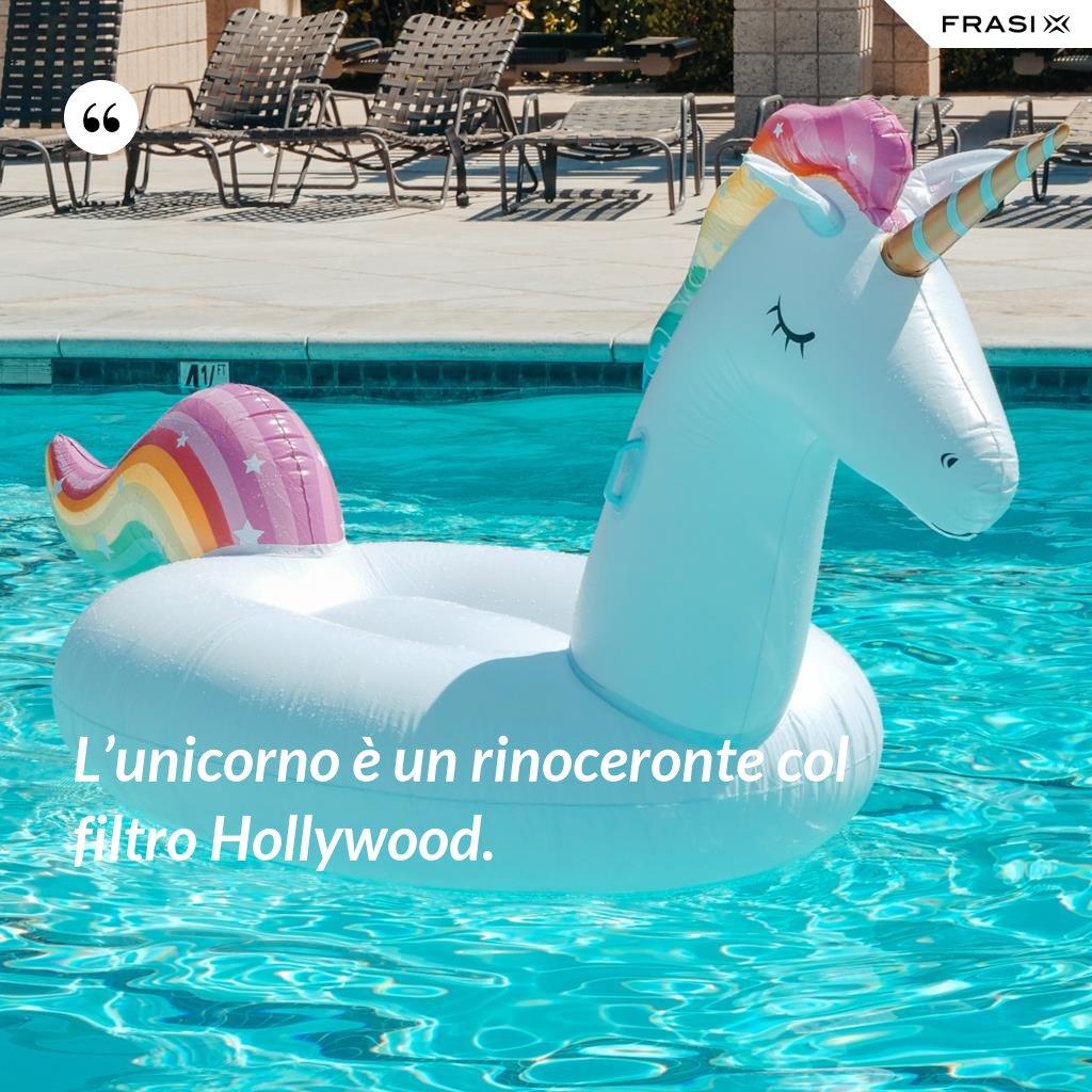 L'unicorno è un rinoceronte col filtro Hollywood. - Anonimo