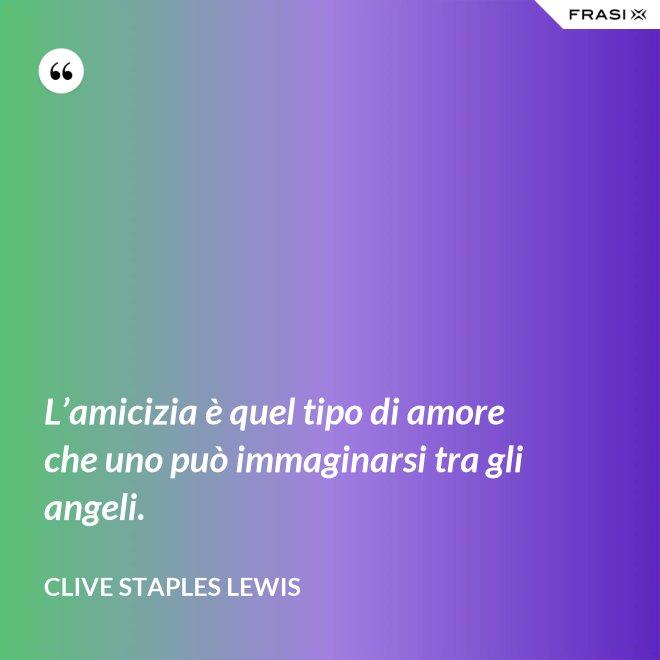 L'amicizia è quel tipo di amore che uno può immaginarsi tra gli angeli. - Clive Staples Lewis