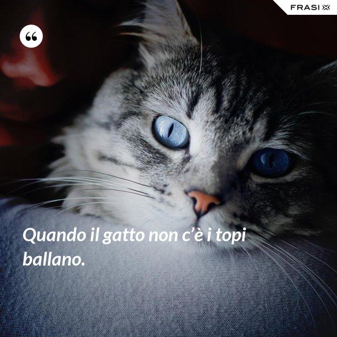 Quando il gatto non c'è i topi ballano. - Anonimo
