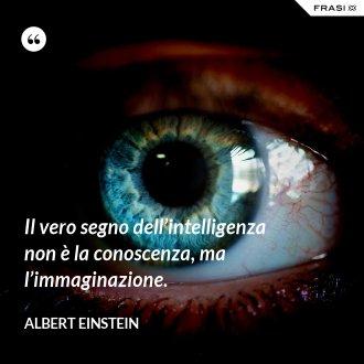 Il vero segno dell'intelligenza non è la conoscenza, ma l'immaginazione.