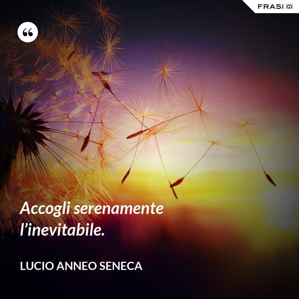 Accogli serenamente l'inevitabile. - Lucio Anneo Seneca