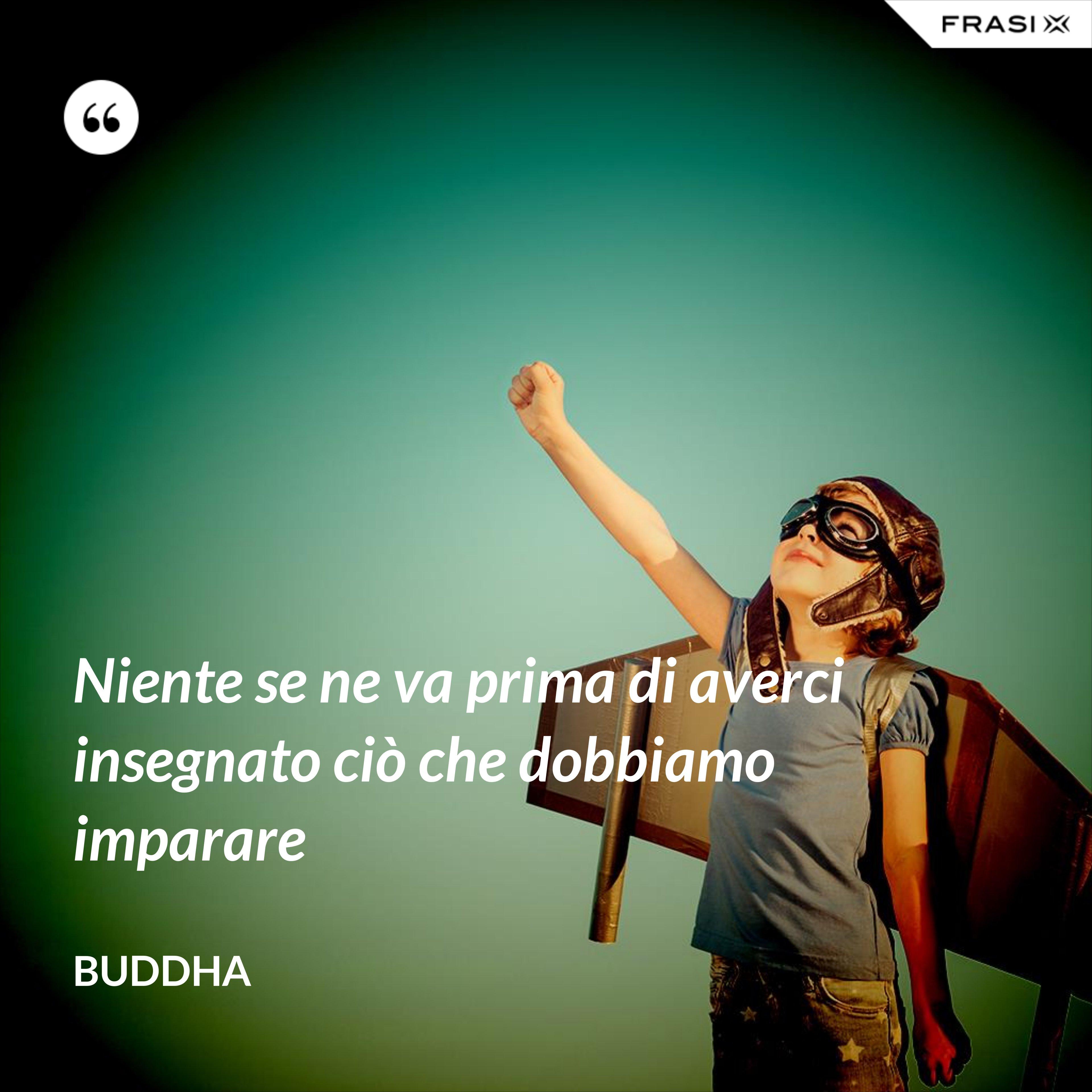 Niente se ne va prima di averci insegnato ciò che dobbiamo imparare - Buddha